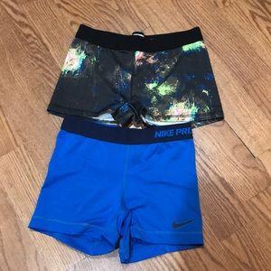 Nike Pro & Soffe Work Shorts Small/Medium